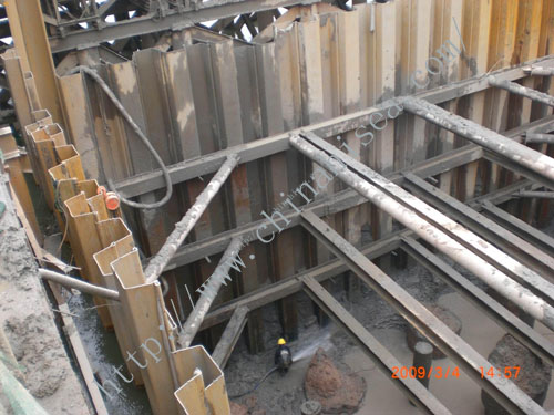 U Shape Hot Rolled Piling Beam U Shape Hot Rolled Piling