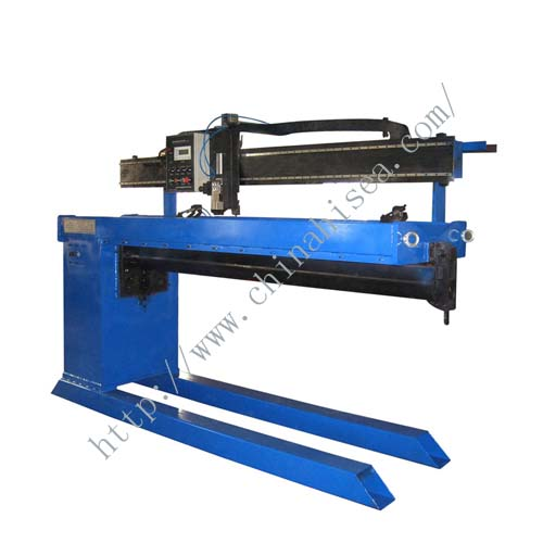 longitudinal seam welder for corrugated pipe