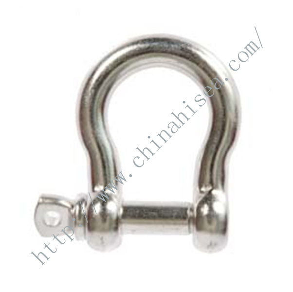 Stainless Steel Bow Shackles with Screw Pin