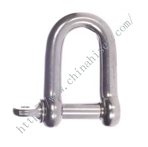 Stainless Steel Dee Shackles with Screw Pin