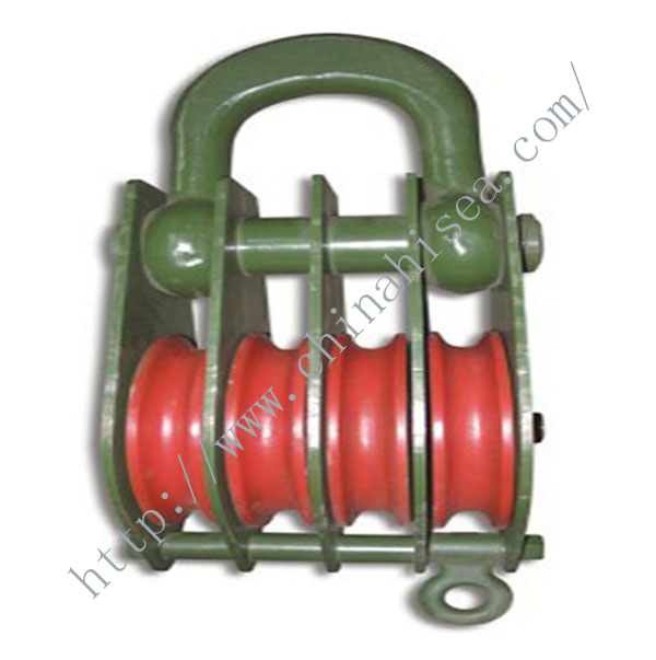 4 Wheels Sheaves Pulley Blocks