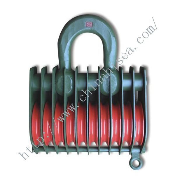 10 Wheels Sheaves Crane Pulley Blocks