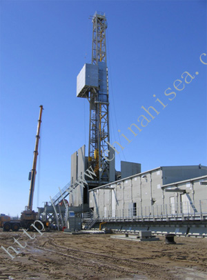 Oil/Gas Cryogenic Wheel-rail Drilling Rig