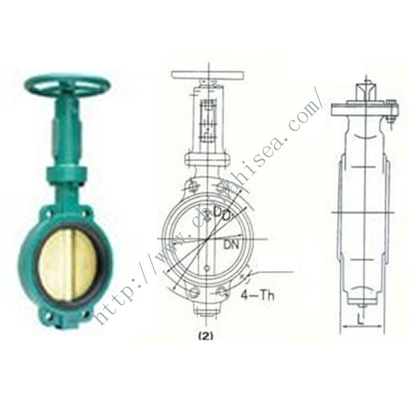 1.0 Mpa Screw Driven Butterfly Valve Drawing.jpg