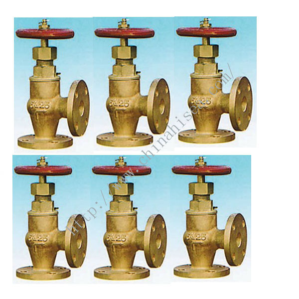 Marine Bronze Screw Down Check Angle Valve JIS F7352 5K