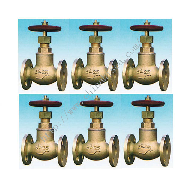 Marine Bronze Screw Down Check Globe Valve JIS F7351 5K
