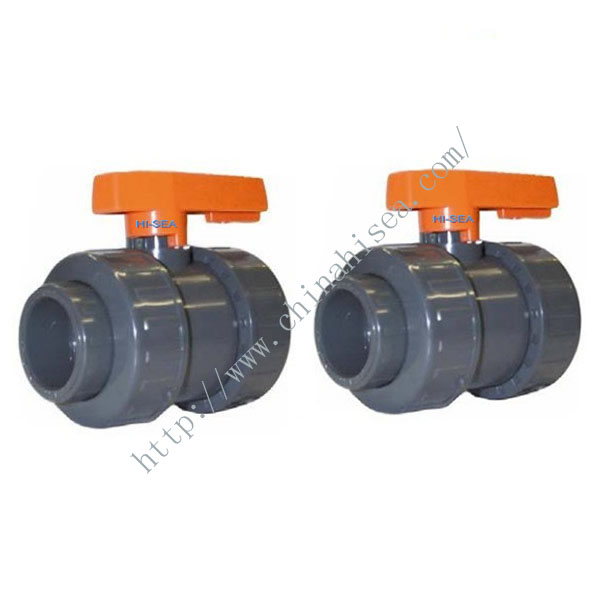 Black Colour Double Union ABS UPVC Ball Valves