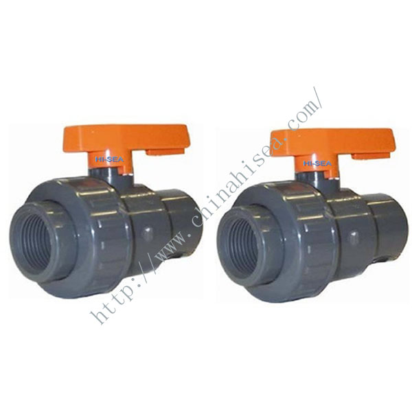 Single Union Black Colour ABS UPVC Ball Valves