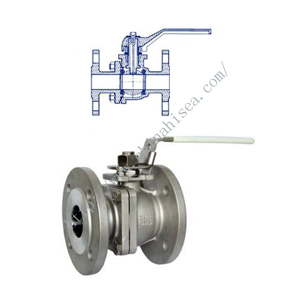 Stainless steel flanged full bore ball valve picture