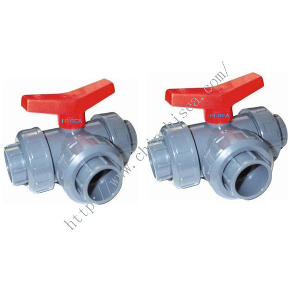 PVC-U Three Way Ball Valve