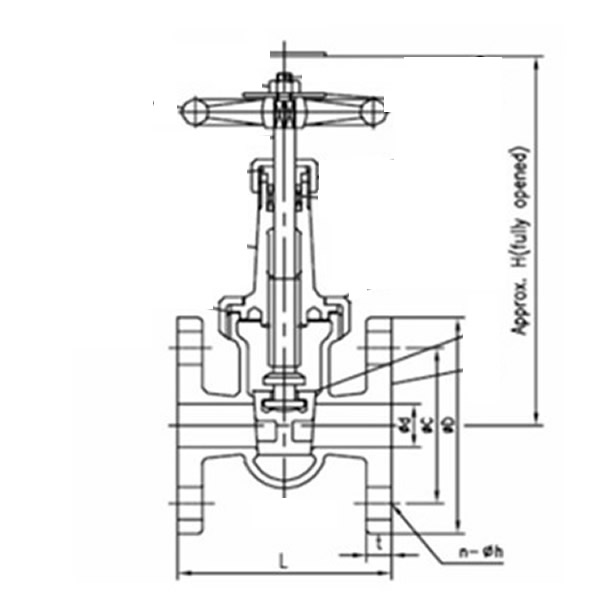 JISF7368 10K Marine Bronze Gate Valve Working Theory
