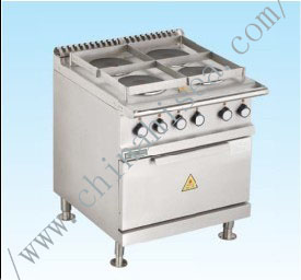 Marine Cooking Range W/Oven (4 Round Hot Plates)