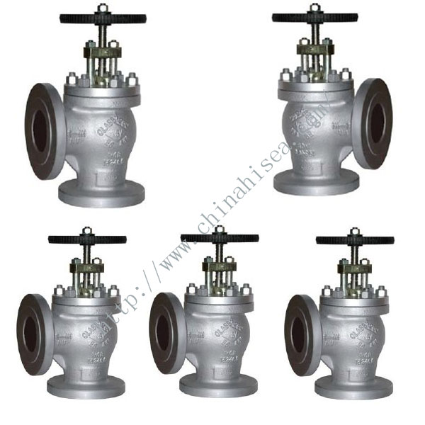 BS 5160 Angle Pattern Cast Steel Globe Valve