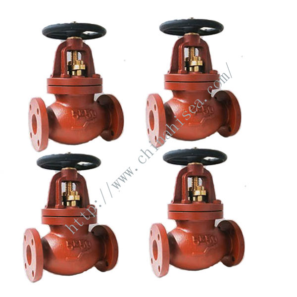 Marine Cast Iron Screw Down Check Globe Valves JIS F7353 5K