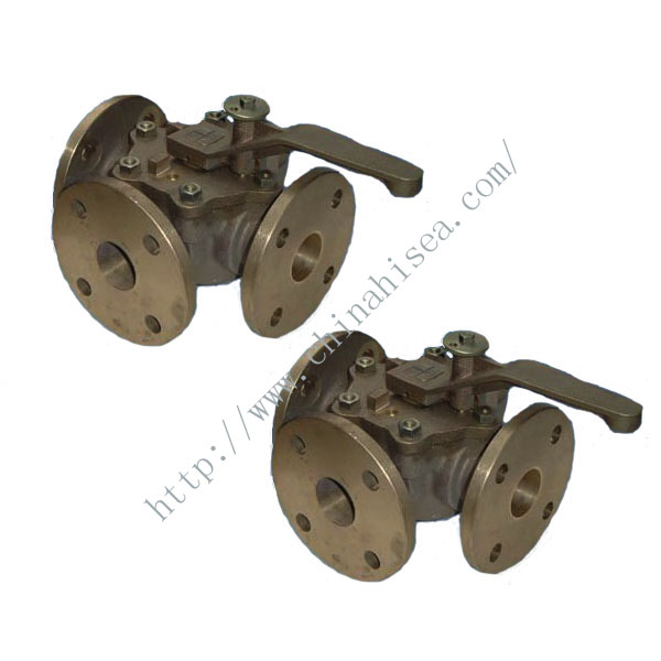 JIS Marine Bronze Three Way Plug Valve