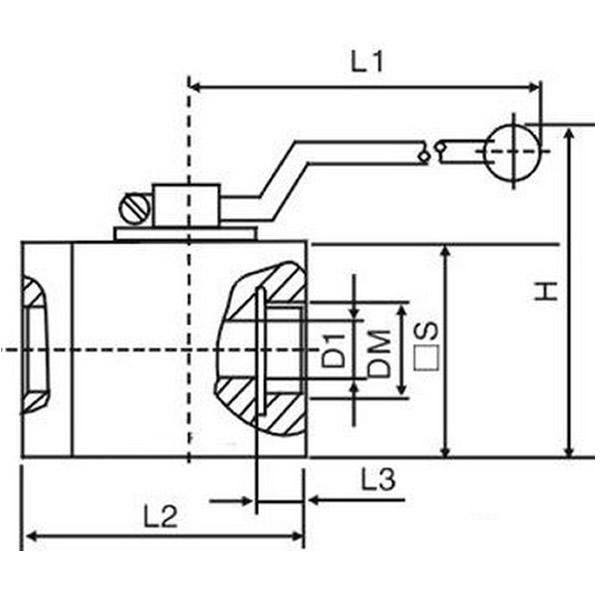 Marine High Pressure Ball Valve Drawing