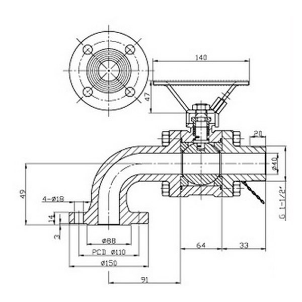 Marine Ball Valve Working Theory Picture