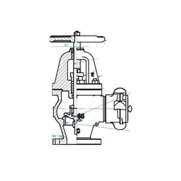 marine cast iron angle hose valve  marine cast iron angle