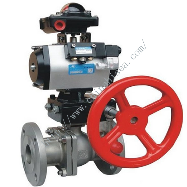 Flanged Pneumatic Stainless Steel Ball Valve