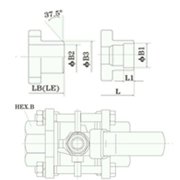 Three-piece Full Bore Ball Valve Working Theory