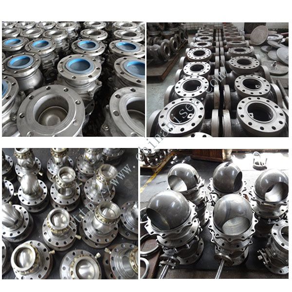 All kinds of different types ball valve in factory