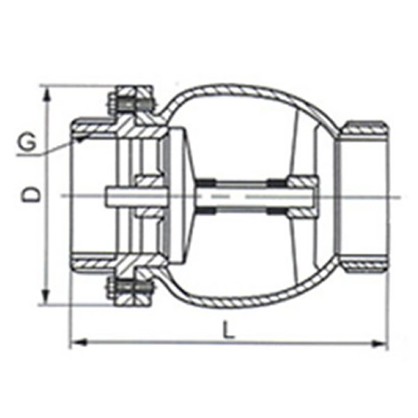 H41X Brass Muffle Check Valve Drawing
