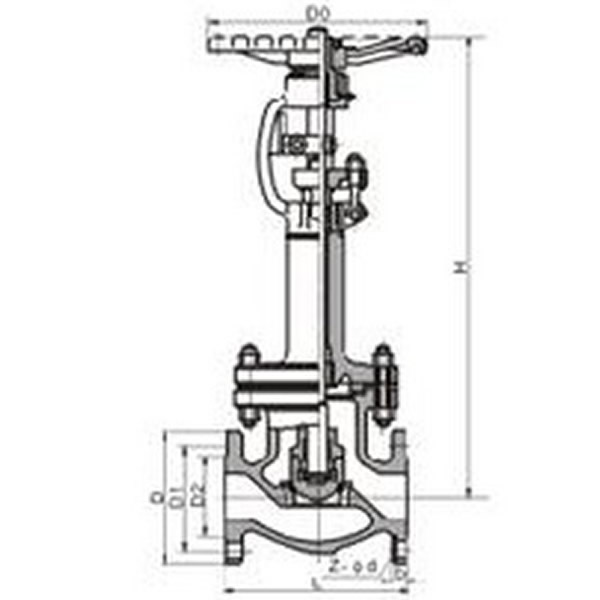 Low Temperature Globe Valve Drawing