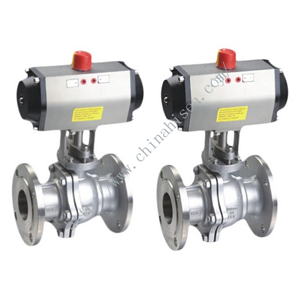 API 6D Pneumatic Ball Valve Sample