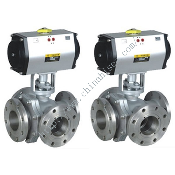 Four Way Pneumatic Ball Valve Sample