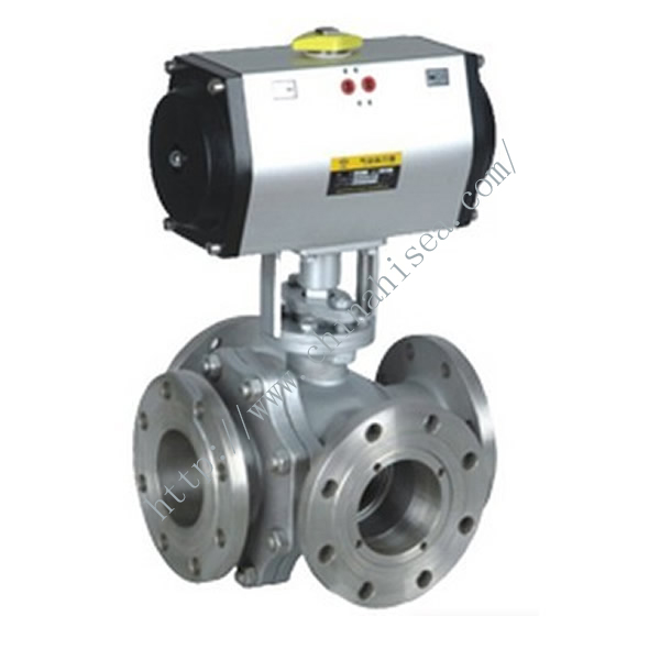 Four Way Pneumatic Ball Valve