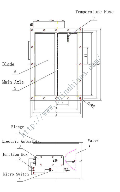 marine electric fire damper marine electric fire damper