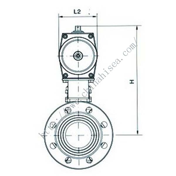 Pneumatic Clamp Butterfly Valve Drawing