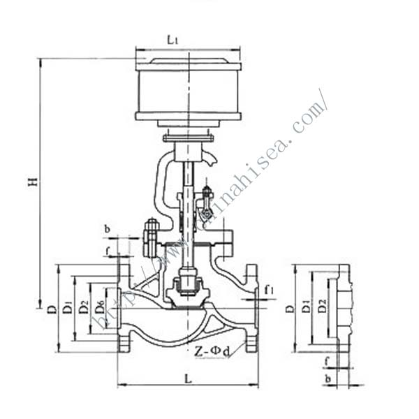 Pneumatic High Pressure Globe Valve Drawing