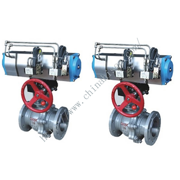 Three Position Pneumatic Ball Valve Detailed Picture