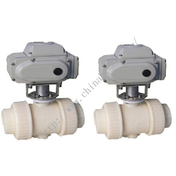 Electric Plastic Ball Valve