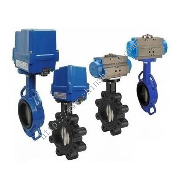 Electric Control Butterfly Valves In Warehouse