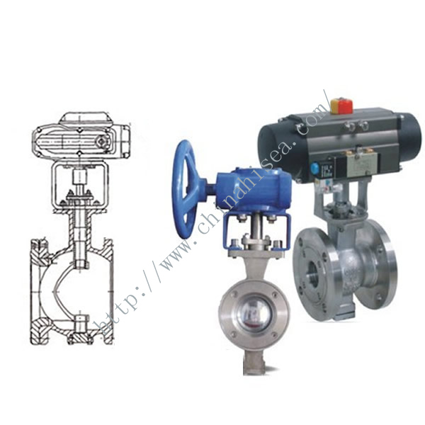 Electric V Type Adjusting Ball Valve Drawing and Sample