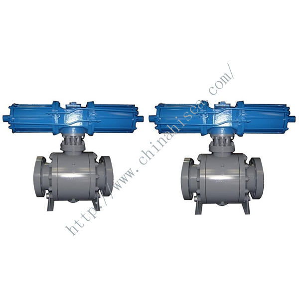 Hydraulic Ball Valve in Factory