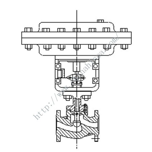 Pneumatic Diaphragm Regulating Valve Drawing