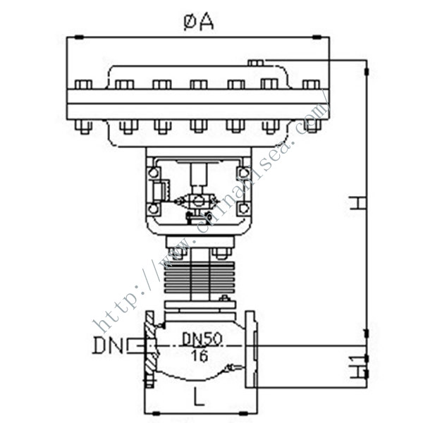 Pneumatic Diaphragm Regulating Valve High Temperature Heat Dissipation