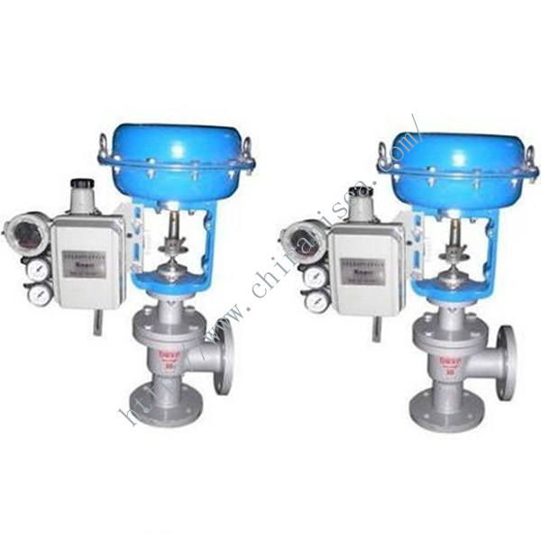 Pneumatic Angle Type Regulating Valve In Factory