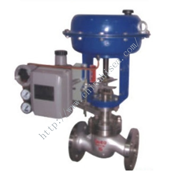 Pneumatic Diaphragm Control Valve Blue