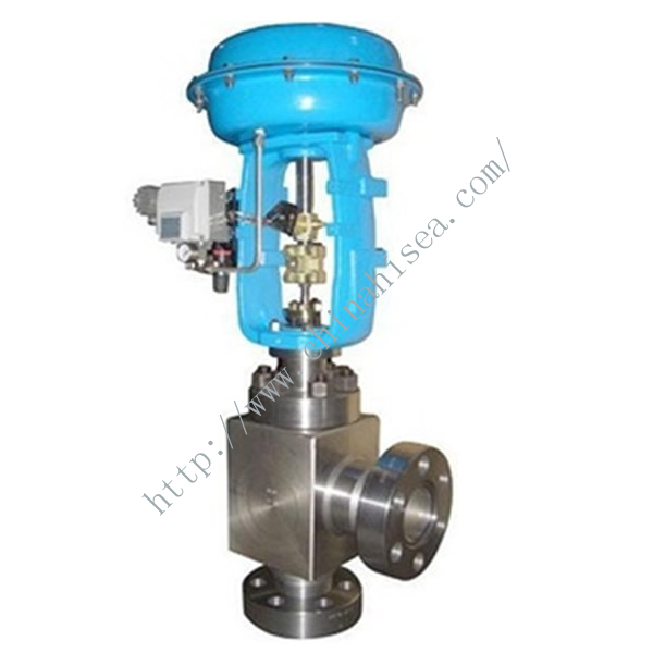 Pneumatic Diaphragm High Pressure Angle Regulating Valve In Factory