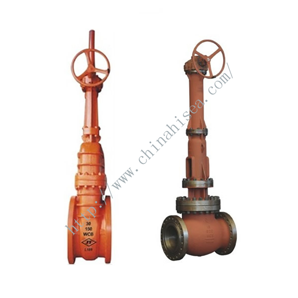 Gear Drive Cast Steel Gate Valve Side Elevation