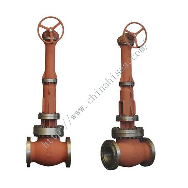 Gear Drive Cast Steel Gate Valve Front View