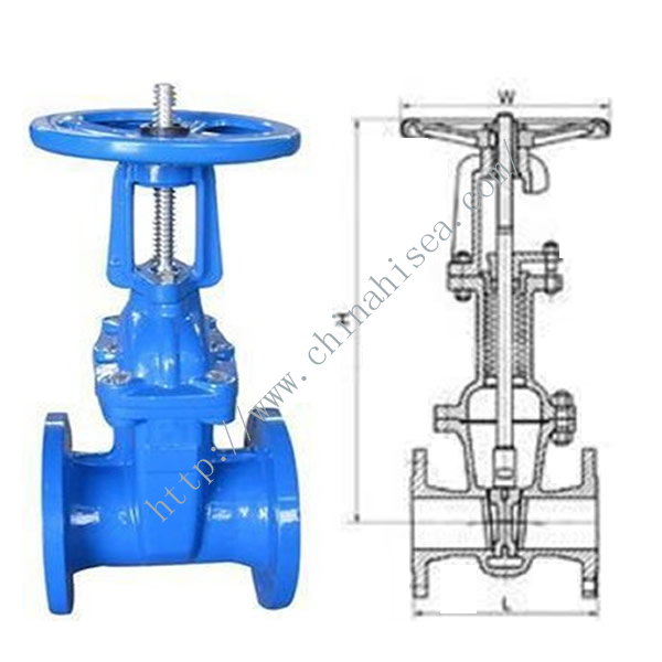 ANSI Soft Sealing Gate Valve Sample and Drawing