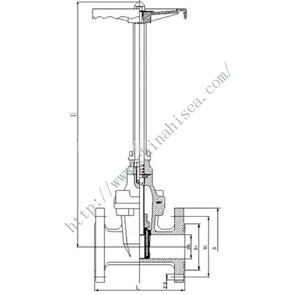 Direct Buried Type Gate Valve Drawing
