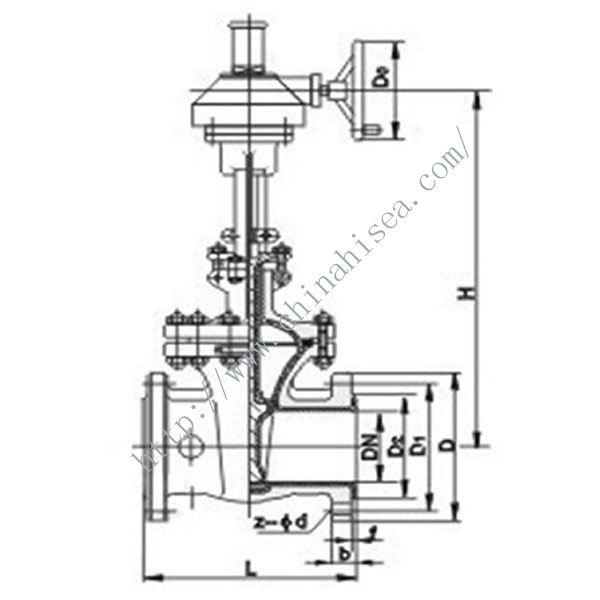 The Related Type Flange Gate Valve Drawing