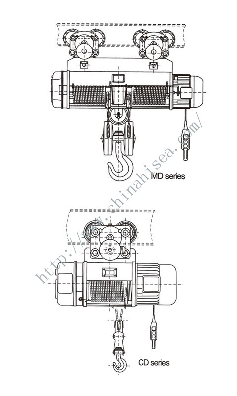 CD1.MD1 Type Wire Rope Electric Hoist-drawing.jpg