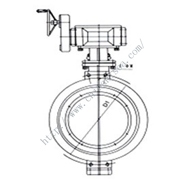 Turbine Butterfly Valve Drawing